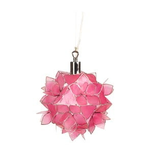 Perleťové závěsné světlo Small Lotus, růžové