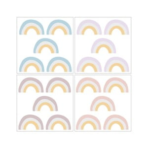 Sada 20 nástěnných samolepek Dekornik Rainbow Light