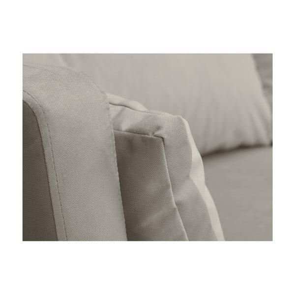 Světle béžová třímístná pohovka Mazzini Sofas Elena, slenoškou na levém rohu