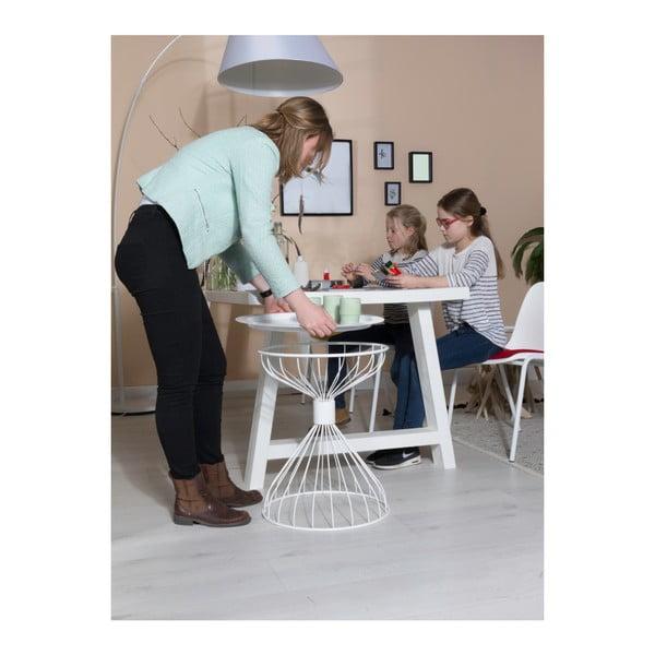 Bílý příruční stolek Zuiver Kelly