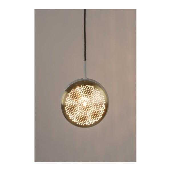 Stropní svítidlo v mosazné barvě s bílými detaily Zuiver Gringo Flat