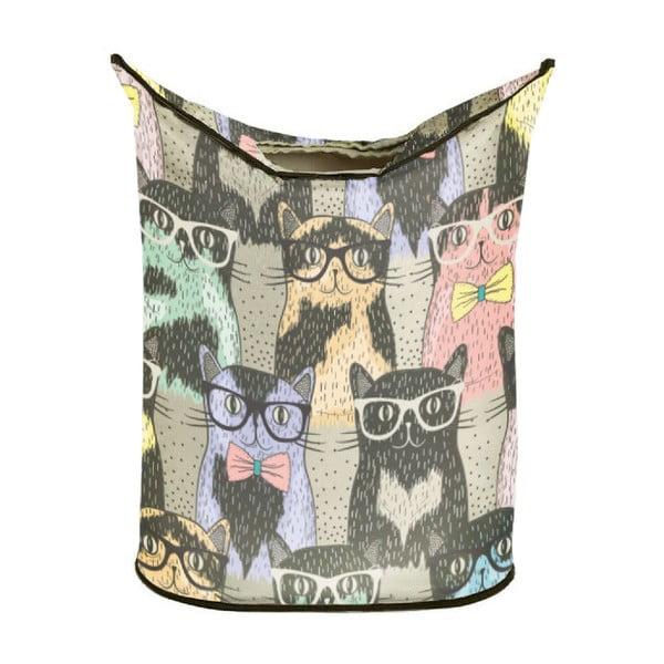 Koš na prádlo Cats in Glasses