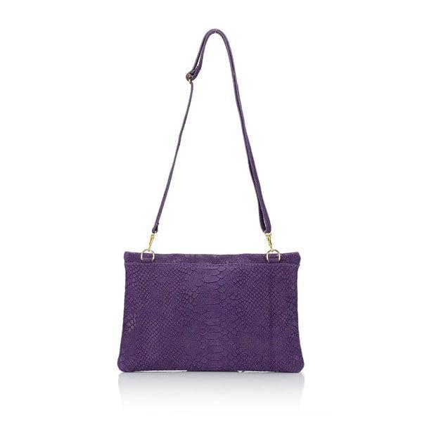 Geantă din piele Giulia Massari Erinn, violet