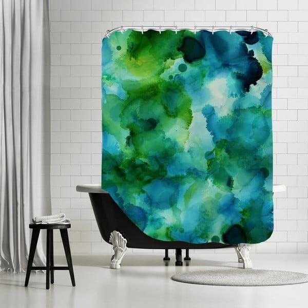 Koupelnový závěs Blue Lagoon Portrait, 180x180 cm