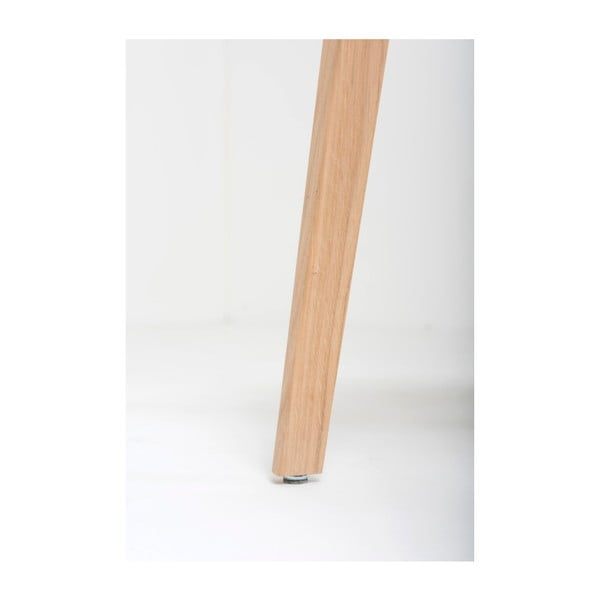 Jídelní židle z masivního dubového dřeva se šedým sedákem Gazzda Ava