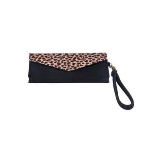 Černá peněženka s leopardím motivem Tri-Coastal Design