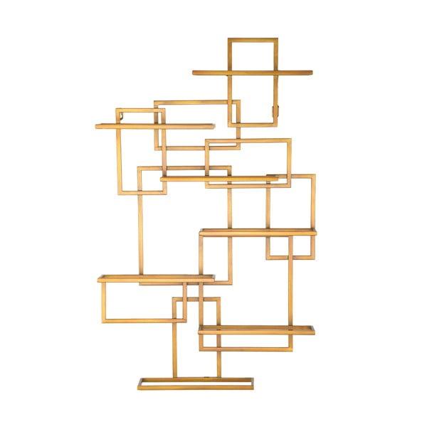 Suport de perete auriu, pentru sticle Mauro Ferretti Diodoro, 50 x 79,5 cm