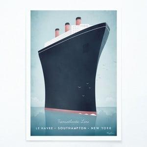 Plakát Travelposter Cruise Ship, A3