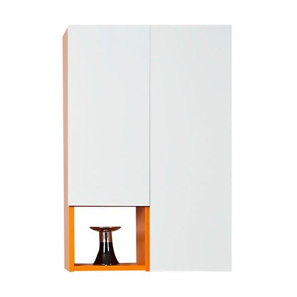 Závěsná police Grand, bílá/oranžová