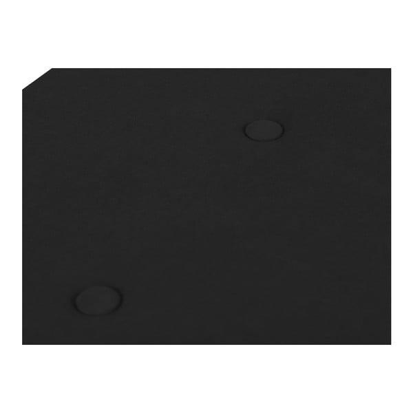 Černý otoman s úložným prostorem Windsor & Co Sofas Astro, , 140 x 47 cm