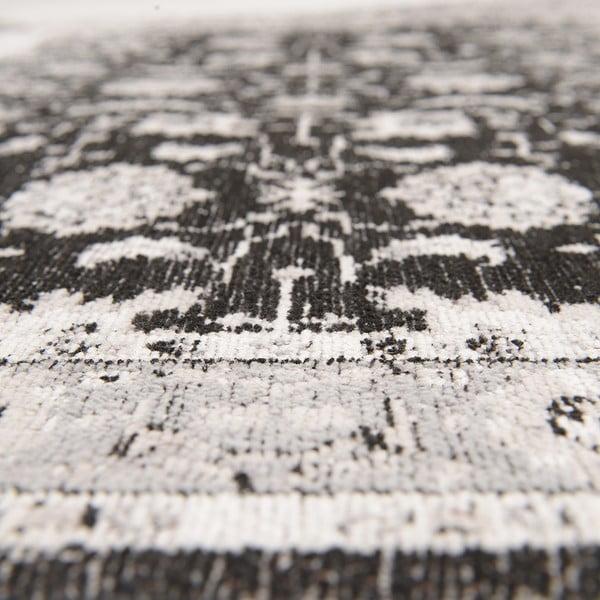 Koberec Chenille, 70x110 cm, černošedý