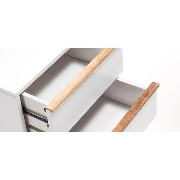 Bílý noční stolek La Forma Meety, 42,5x40cm