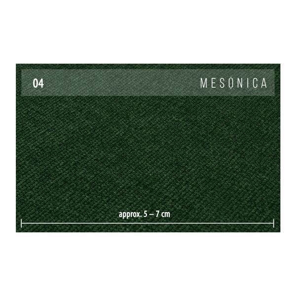 Zelená rohová pohovka s lenoškou na levé straně MESONICA Puzo