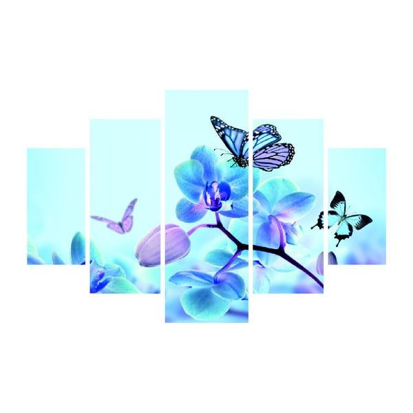 Vícedílný obraz Sakura And Butterfly, 92x56 cm