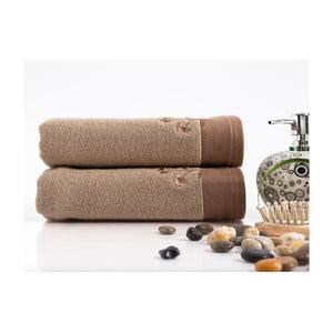 Sada 2 ručníků Hürrem Beige Brown, 50x100 cm