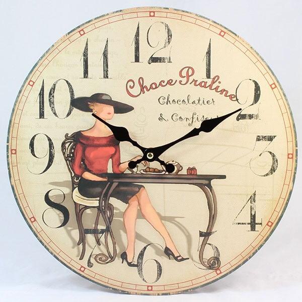 Dřevěné hodiny Choce Praline
