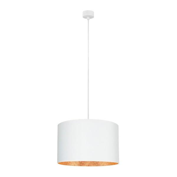 Bílé stropní svítidlo s vnitřkem v měděné barvě Sotto Luce Mika, ∅40cm