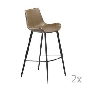 Set 2 scaune bar DAN-FORM Hype, maro deschis