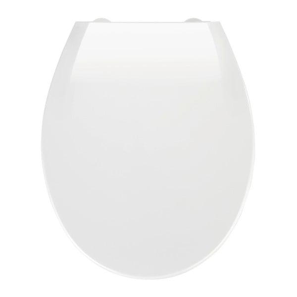 Capac WC cu închidere lentă Wenko Kos, 44 x 37 cm, alb