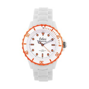 Hodinky Colori 40 White/Orange