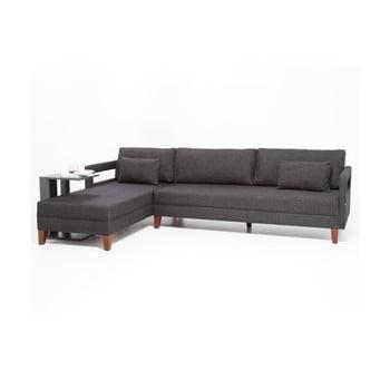 Canapea/pat cu șezlong pe partea stângă Balcab Home Emily, gri