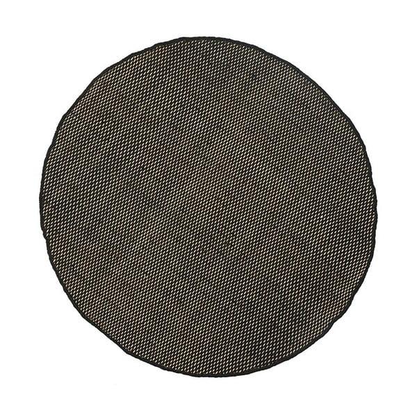 Vlněný koberec Asko Black, 90 cm