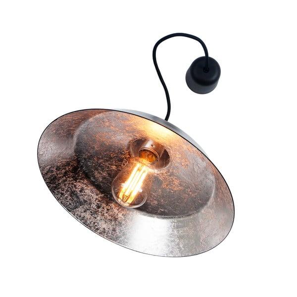 Černé stropní svítidlo s detailem ve stříbrné barvě Bulb Attack Cinco