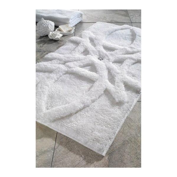 Sada 2 koupelnových předložek Diana White Swarovski, 60x100 cm a 55x60 cm