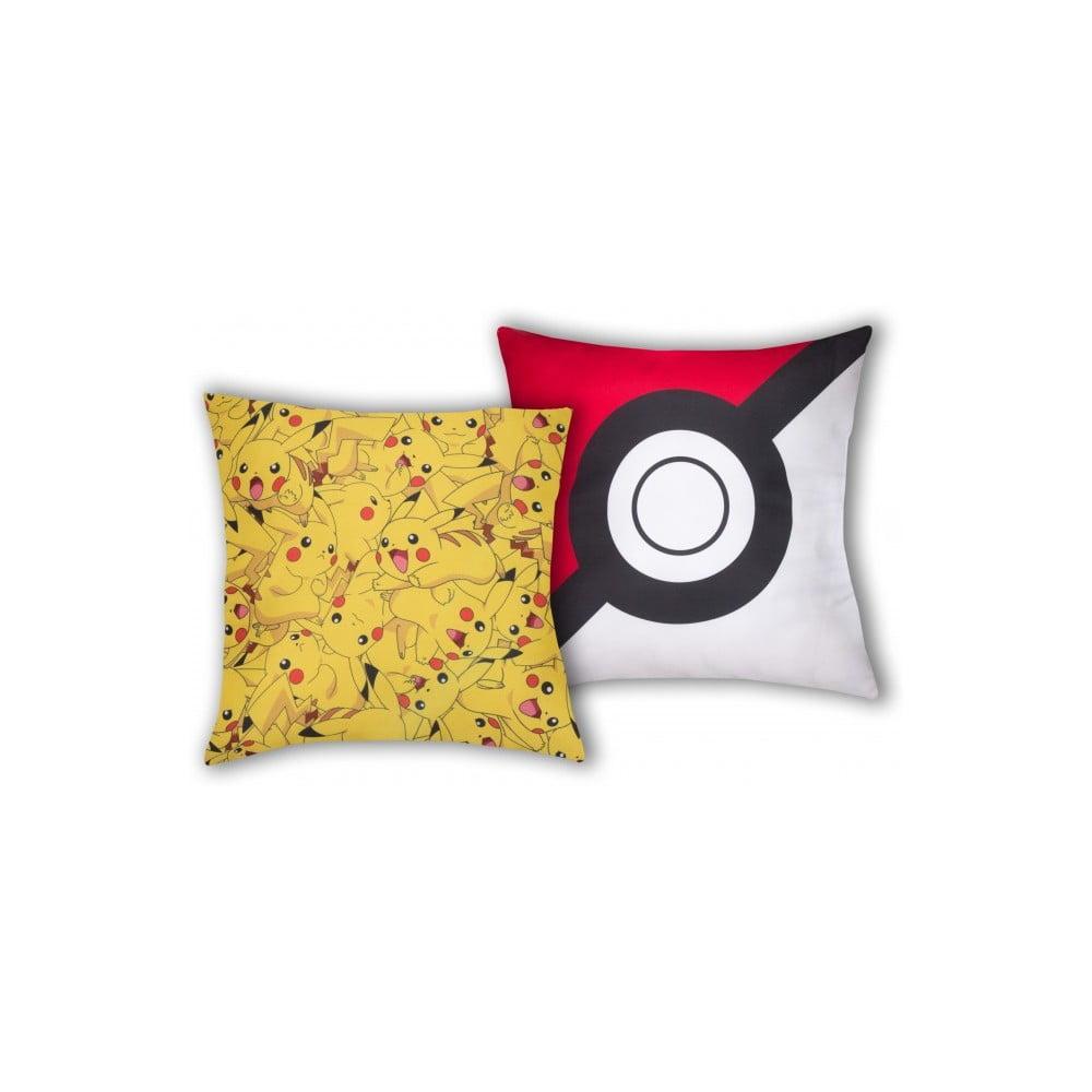 Dětský oboustranný polštář Halantex Pokemon, 40 x 40 cm