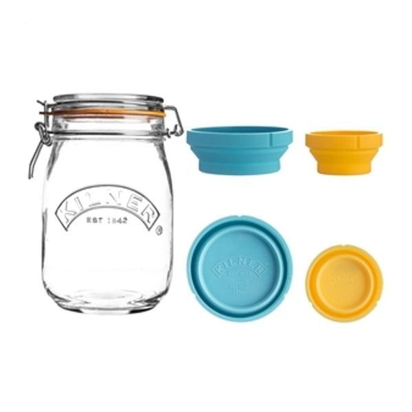 Pojemnik szklany na żywność z miarkami Kilner, 1 l