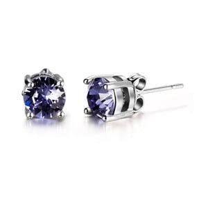 Náušnice s fialovými krystaly Swarovski Elements Crystals Hailye