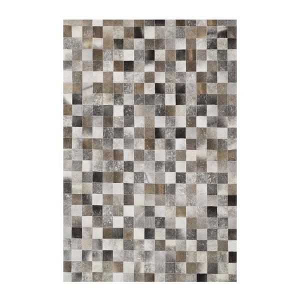 Koberec z pravé kůže Sao Paulo Grey, 200x300 cm