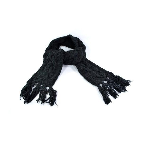Vlněná šála s fleecovou podšívkou Spacedye Black