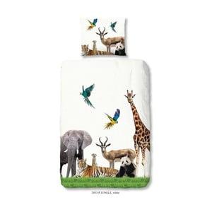 Lenjerie de pat pentru copii Good Morning Jungle, 140 x 200 cm
