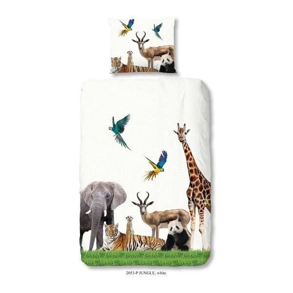 Dětské bavlněné povlečení Good Morning Jungle, 140 x 200 cm