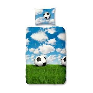 Dětské flanelové povlečení Muller Textiel Footbal, 140 x 200 cm