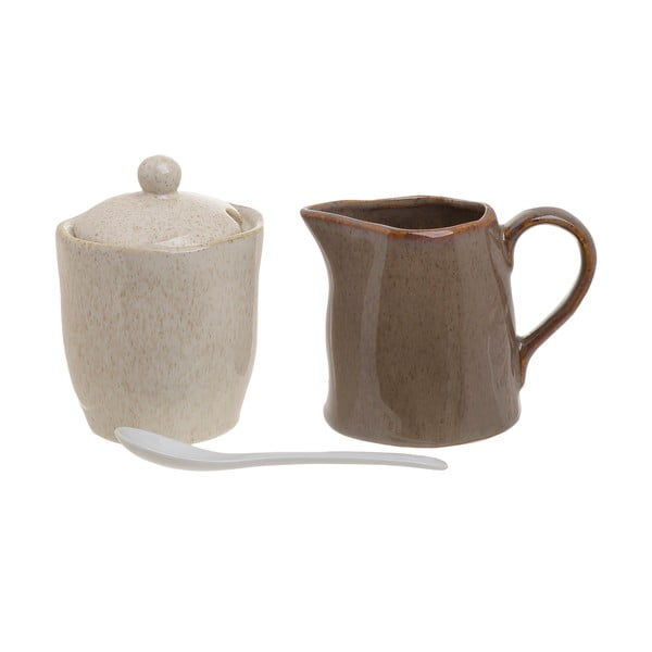 Set porcelánovej cukorničky a nádoby na mlieko InArt Earth