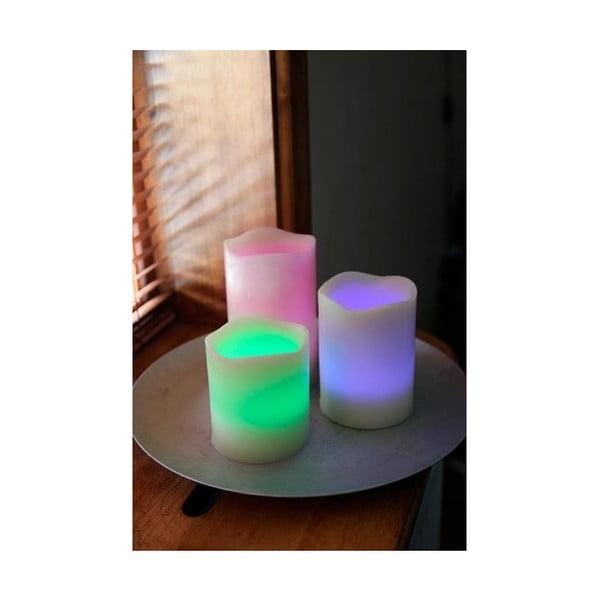 Set tří barevných LED svící