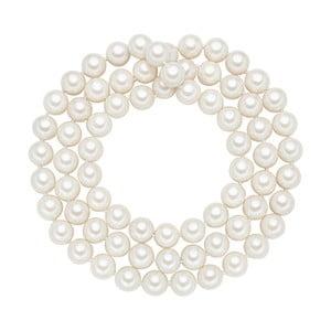 Lănțișor cu perle albe  ⌀ 12 mm Perldesse Muschel, lungime 90 cm