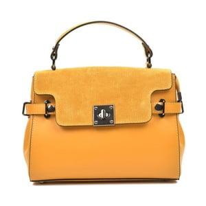 Žlutá kožená kabelka Carla Ferreri Monica Lento