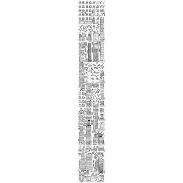 Vymalovávací tapeta Metropolis, 45x300 cm