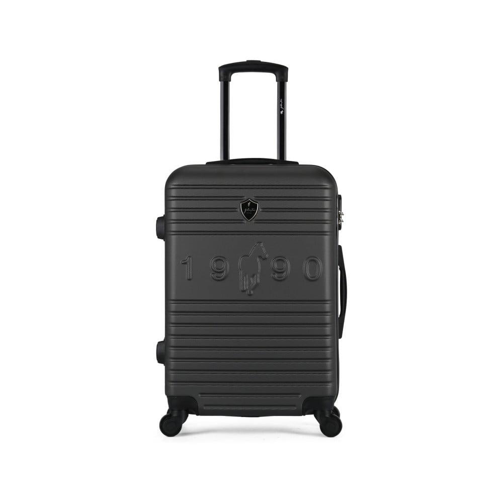 Tmavě šedý cestovní kufr na kolečkách GENTLEMAN FARMER Valise Grand Cadenas Integre, 45 x 65 c