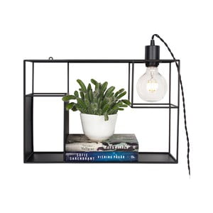 Černé stolní/nástěnné svítidlo GlobenLighting Shelfie