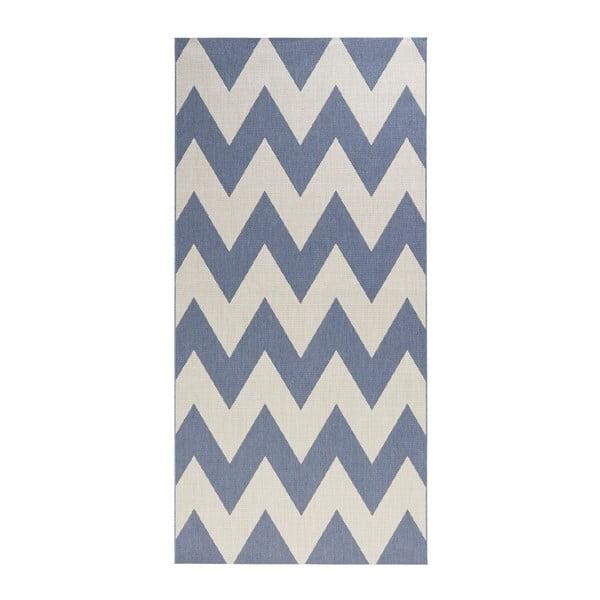 Covor exterior Hanse Home Unique, 80 x 200 cm, albastru - alb