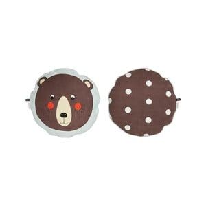 Dětský polštář z organické bavlny OYOY Bear, ⌀ 40 cm