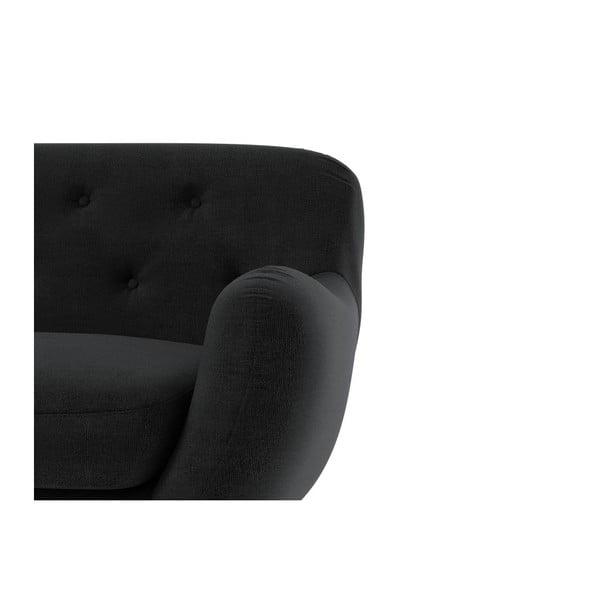 Sofa Zefir pro tři, tmavě šedé