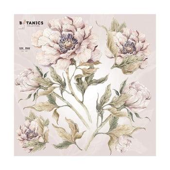 Set autocolante de perete Dekornik, 70 x 70 cm, flori imagine