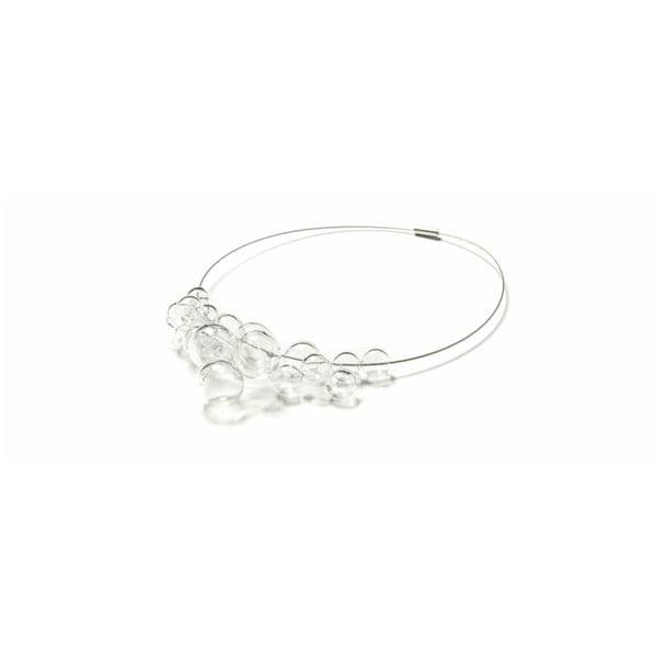 Skleněný náhrdelník Ko-ra-le Crystal foam