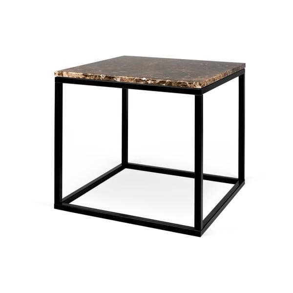 Brązowy marmurowy stolik TemaHome Prairie, 50x47 cm