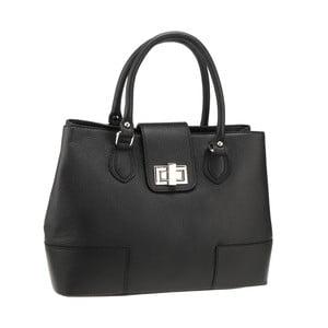 Černá kožená kabelka Florence Bags Tabit